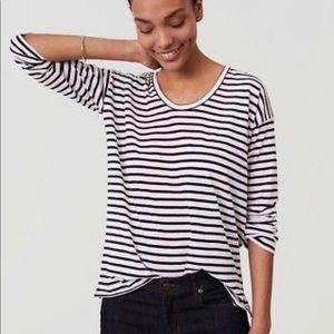 LOFT Striped drop-shoulder T-shirt